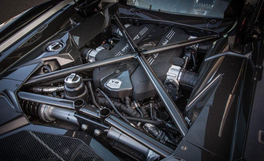Lamborghini Aventador gassing down the street V12 Engine