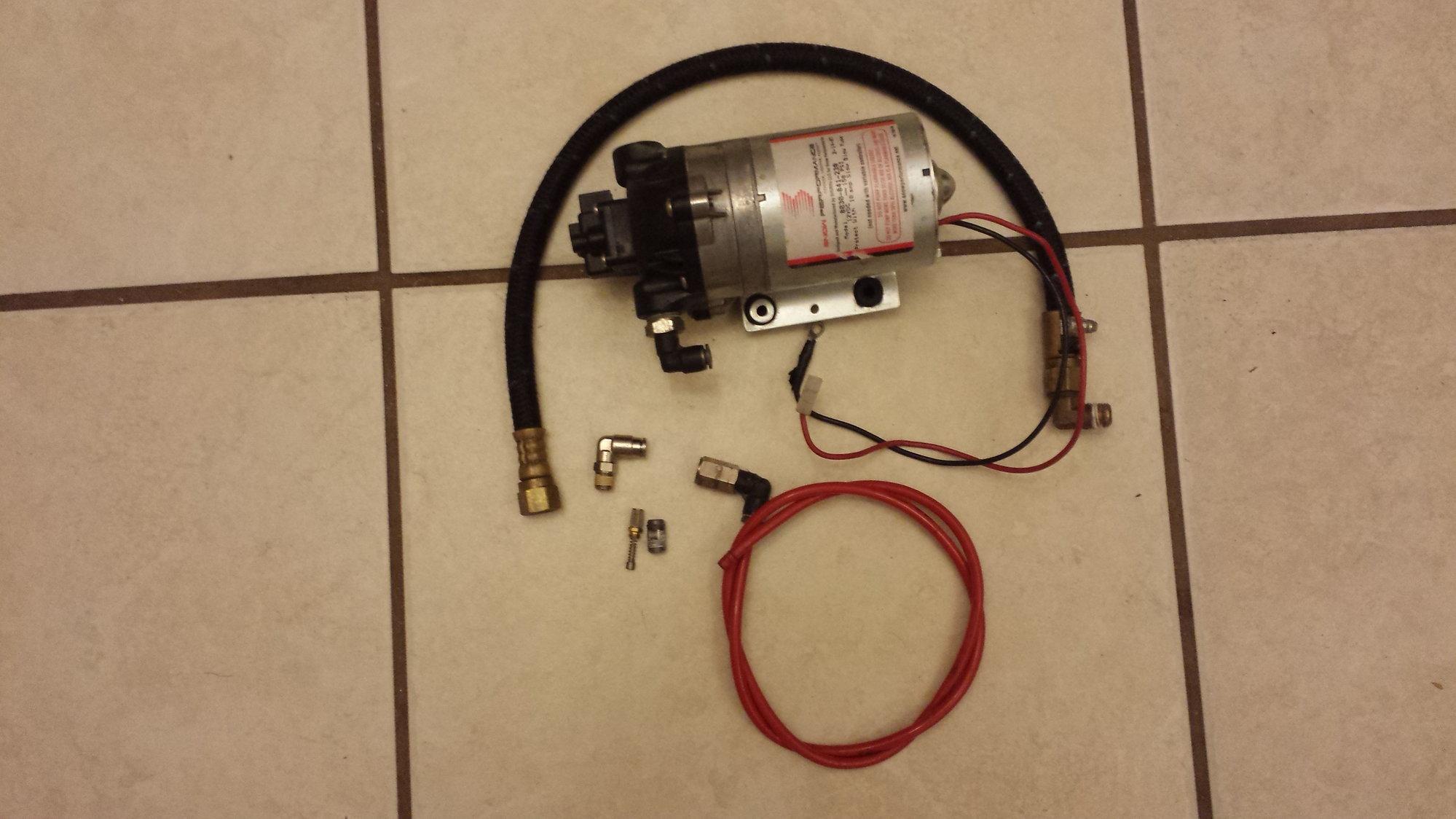 Snow Performance Meth Pump, Nozzle holder with big nozzle