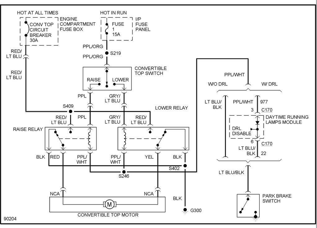 97 Convertible Power Top Wiring Diagram