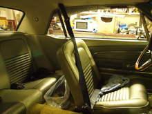 Interior - 3-point seatbelts & new interior.