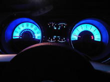 I like the gauges to be blue.  Just like the Kentucy Wildcats.  GO BIG BLUE!