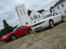 My Stang, Dad's Challenger