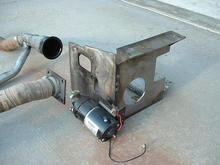 exhaust system and oil pump