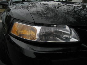 This was my second headlight which came out much better due to spending more time with the 1000 grit sandpaper.