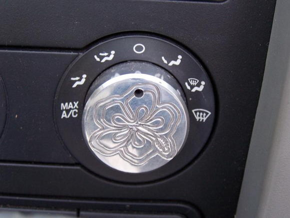 The car came from Hertz in Honolulu, to Kentucky so Hibiscus engraved AC knobs were a must.