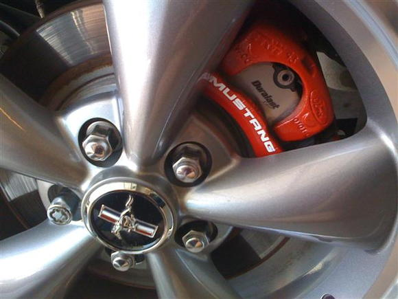 Rear Calipers painted and decaled.