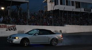 burnout on the oval
