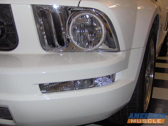 Chrome Halo Headlights and clearly visible shark gills - front signal and marker park lamps in clear,  not amber.