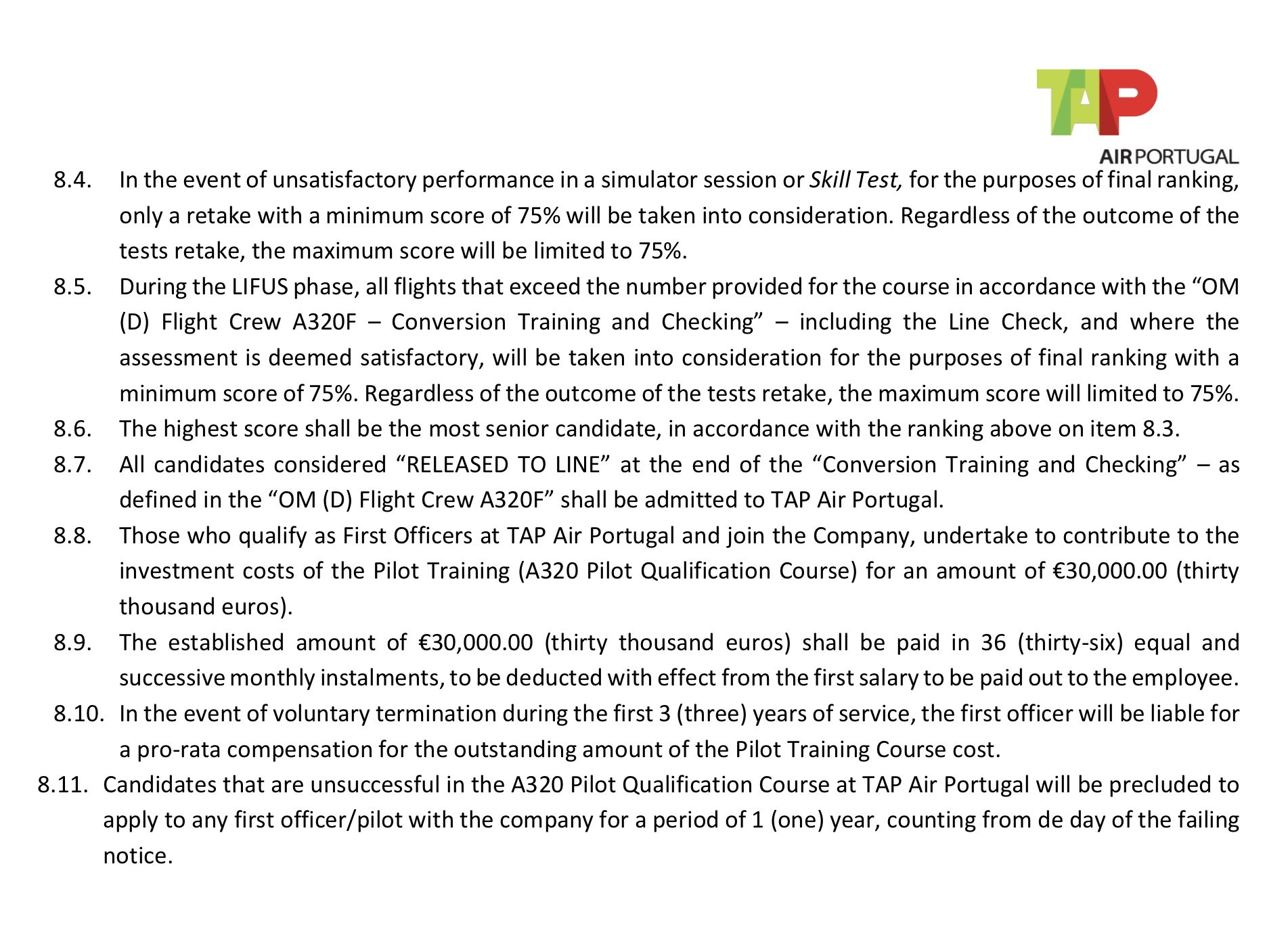 TAP Portugal new Admissions - Page 2 - PPRuNe Forums