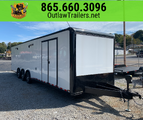 NEW 32' OUTLAW ENCLOSED RACE TRAILER- TRIPLE SPREAD AX