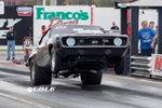 69 Camaro, back half, WHEELS UP!, 2600 lbs., 705 hp.