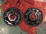FS - 9-Inch Blasted and Painted Backing Brake Plates MAKE OF