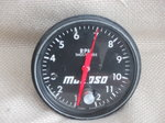 large face mechanical tachometer