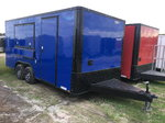 Electric Blue 8.5x18TA Concession Trailer