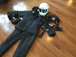 Racing suit and gear