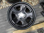 "Dodge hemi 18"" steel black wheels, complete set"