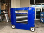 blue racing pit box