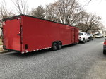 2018 rock solid32 foot v nose 2 car trailer