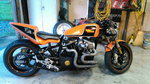 Custom built Harley sportbike chopper