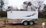 2021 Cargo Mate 7 x 12 Low Hauler Motorcycle Trailer