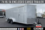 7X16 TA Nationcraft Enclosed Cargo Trailer w/ Alloy Wheels   for sale $5,599