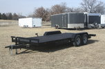 New 2018 20' Wood Floor Flat Bed Trailer