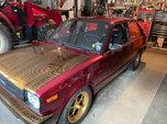 1981 Toyota Starlet Turbo drag car
