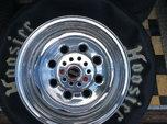 Hoosier drag radial / Weld Draglite polished rims  for sale $425