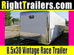 30ft Vintage Race Car Trailer w/ Sportsman Package