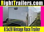 28ft Vintage Race Car Trailer w/ Deluxe 110V Light Package