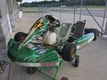 2014 tony kart, 125cc, mychron  for sale $2,500