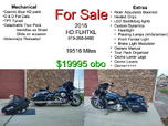 2016 FLHTKL  for sale $19,995