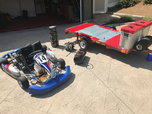 Alpha kart w/trailer  for sale $3,000