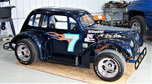 HISTORIC LEGENDS RACE CAR with NASCAR background  for sale $7,500