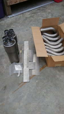 Titanium header kit