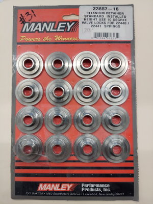 Manley ti retainers for 22440/22441 springs