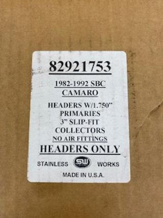 NEW Stainless Works Headers 82-92 SBC Camaro  for Sale $800