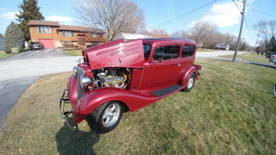 REAL STEEL PRO TOURING 1934 CHEVROLET CHEVY 2DR