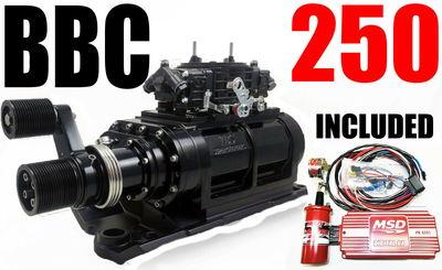BIG BLOCK CHEVY BLOWER SHOPSUPERCHARGER 250 BLACK 2V 3120
