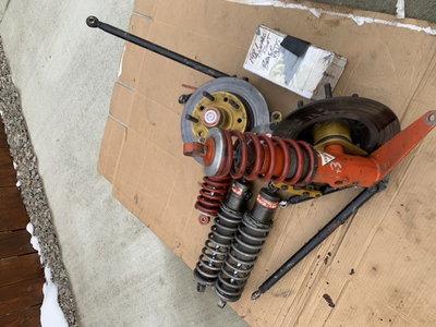 Used koni shocks. struts strange brakes
