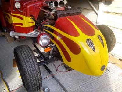 *** CRAZY RED VW RAT ROD-V8 ENGINE***