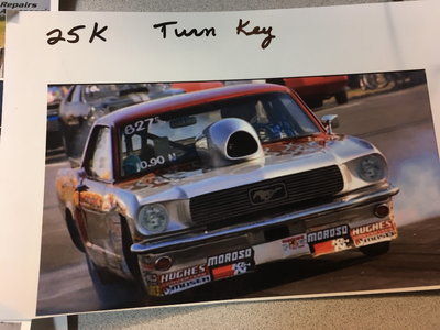 66 Mustang Drag race