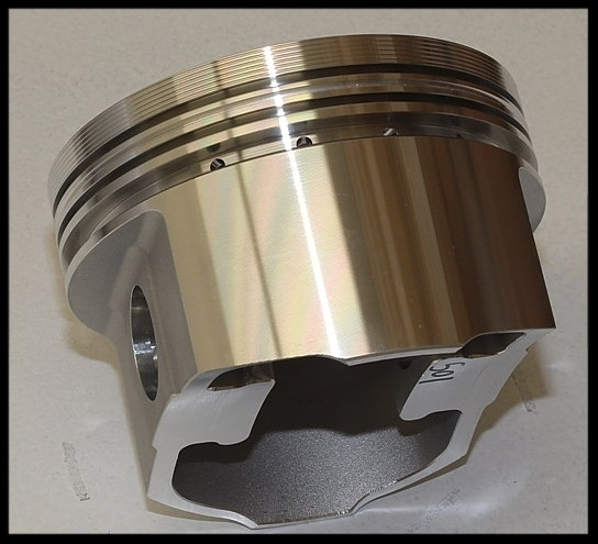 BBC CHEVY 572 MERLIN SHORT BLOCK FORGED PISTONS +10.5CC DOME  for Sale $4,595