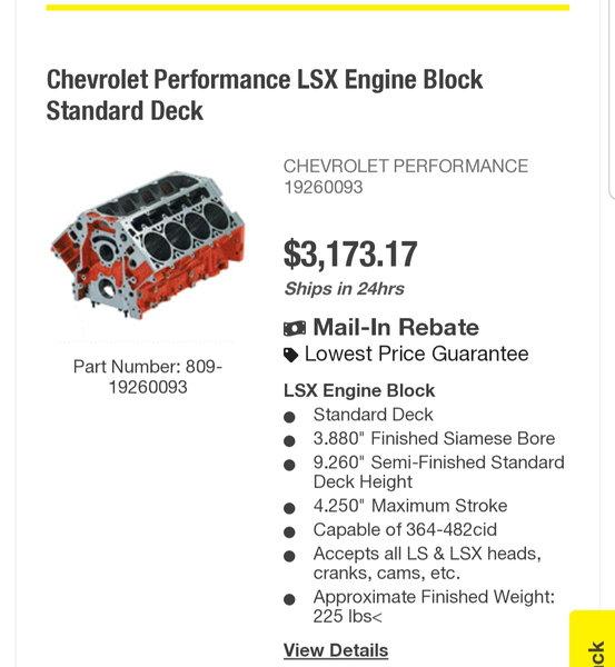 LSX BLOCK & STEVE MORRIS BLOWER CAM  for Sale $3,200