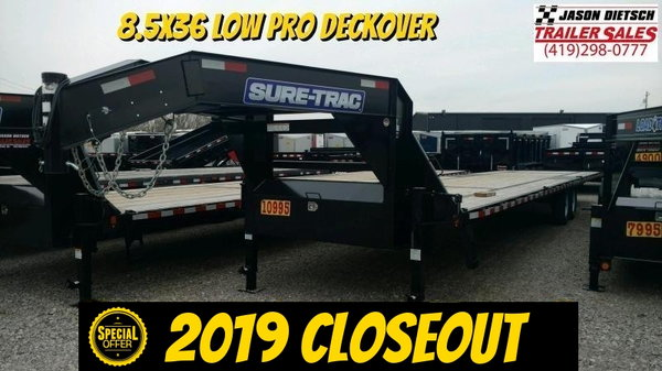 2019 Sure-Trac 8.5x36 LowPro Deckover Equipment Trailer