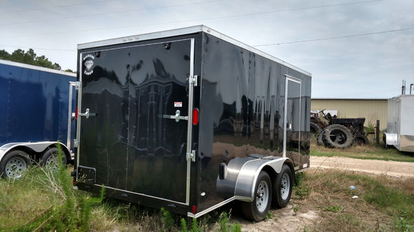 2019 Black 7x14vEnclosed Motorcycle Trailer  for Sale $3,325