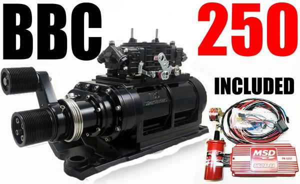 BIG BLOCK CHEVY BLOWER SHOPSUPERCHARGER 250 BLACK 2V 3120  for Sale $5,450