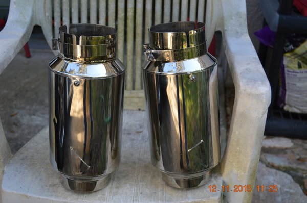 Stainless Mufflers  for Sale $100
