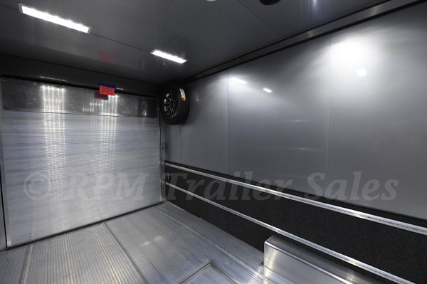 34' Custom Race Trailer with Bathroom Package - 12006