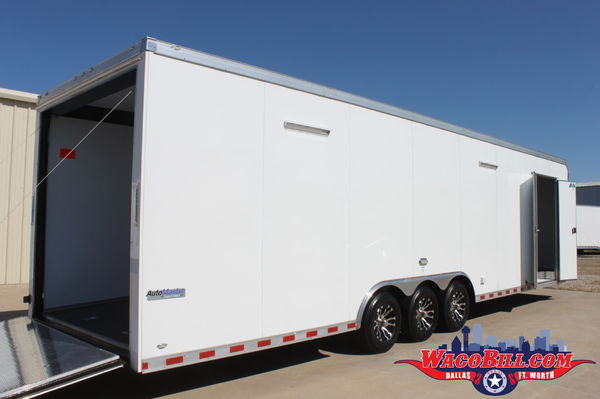 32' Auto Master 110V-LED X-Height Race Trailer Wacobill.com